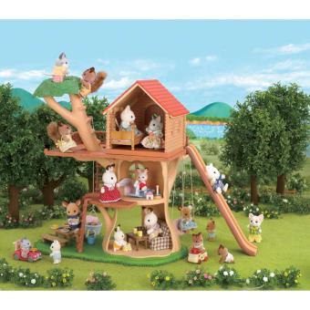 cabane dans les arbres epoch d 39 enfance sylvanian families univers miniature achat prix fnac. Black Bedroom Furniture Sets. Home Design Ideas