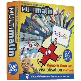 Multimalin jeu de cartes tables de multiplication avec 56 for Methode pour apprendre table multiplication