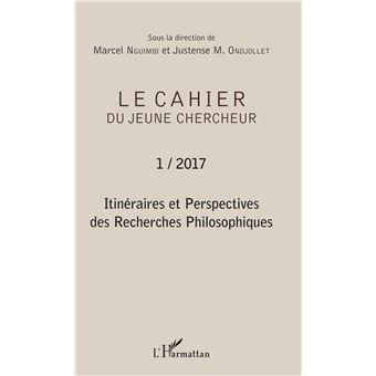 Cahier du jeune chercheur,2017-01