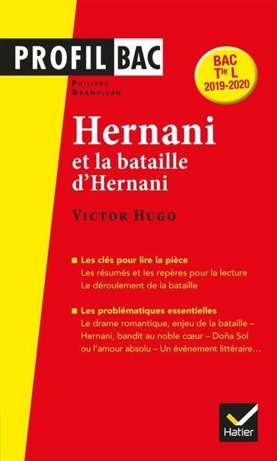 Profil - Victor Hugo, Hernani - analyse littéraire de l uvre (programme de littérature Tle L bac 2019-2020) - 9782401050167 - 4,49 €