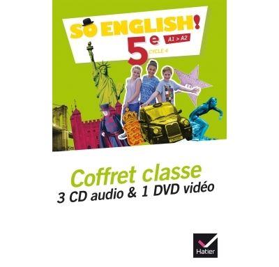 So English! - Anglais 5e Éd. 2017 - Coffret CD / DVD classe