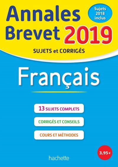 Annales Brevet 2019 Français