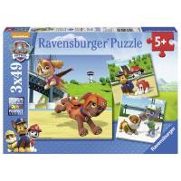 Puzzle 3x49 pièces L'équipe des 4 pattes Pat' Patrouille Ravensburger