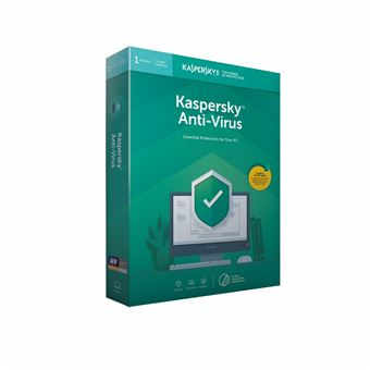 Software Kaspersky Antivirus 2019 1 PC FR/NL