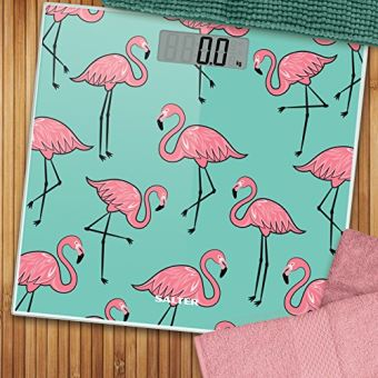 Salter Weight Scale Electronic Pink Flamingo