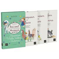 Coffret premiers livres à lire seul 3 histoires de Malo,Valère & Victoria Niv.3 PEDAGOGIE MONTESSORI