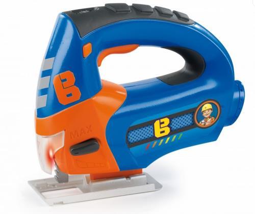 Scie sauteuse électronique Bob le bricoleur.  Actionne le bouton et tu verras la lame bouger comme une vraie scie sauteuse.  Effet sonore mécanique et lumineux. Try me pack