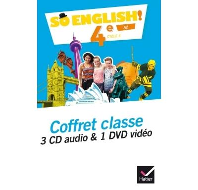 So English! - Anglais 4e Éd. 2017 - Coffret CD / DVD classe