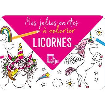 Mes jolies cartes à colorier - Licornes