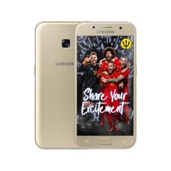 Samsung galaxy A3 GOLD + Red devils back cover