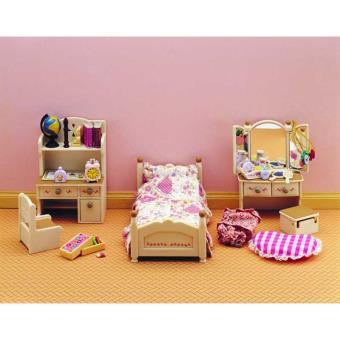 Set chambre de jeune fille epoch d 39 enfance sylvanian families univers miniature achat prix - Chambre de jeune fille ...