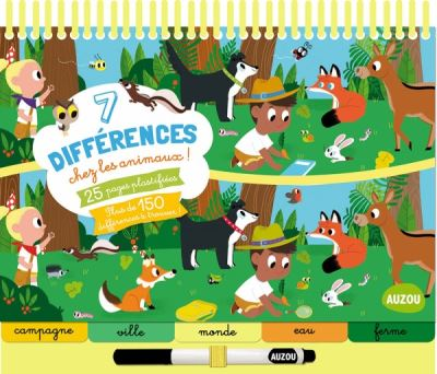 7 differences chez les animaux (coll. bloc-notes)