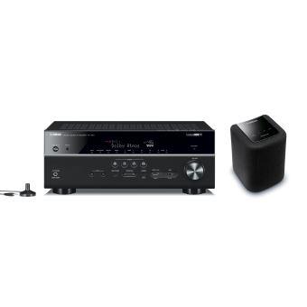 Pack Amplificateur Home Cinéma Yamaha MusicCast RX-V681 Noir + Enceinte Bluetooth MusicCast WX-010 MultiRoom Noire