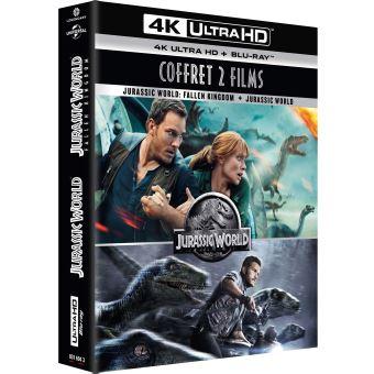 Jurassic ParkCoffret Jurassic World L'intégrale 1 et 2 Blu-ray 4K Ultra HD