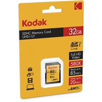 Kodak carte mémoire SDHC 32GB CLASS10 U1