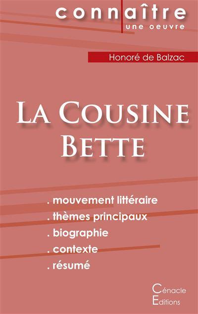 Fiche de lecture, La cousine Bette