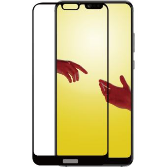 Azuri Tempered Glass Flat Rinox Armor Black Frame P20 Lite