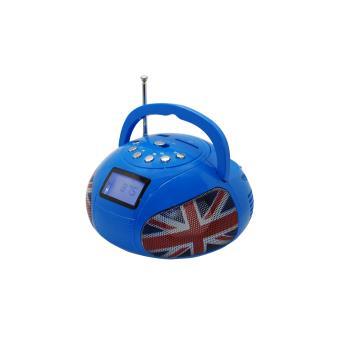 Mini Boombox Teknofun Bluetooth Bleu