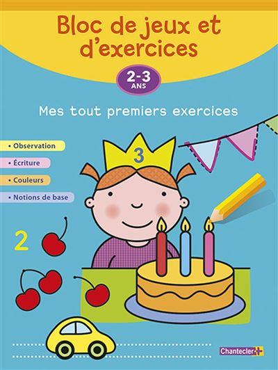Bloc de jeux et d'exercices - mes tout premiers exercices (2