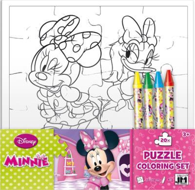 Mickey - Set puzzle à colorier avec crayons Disney : Minnie