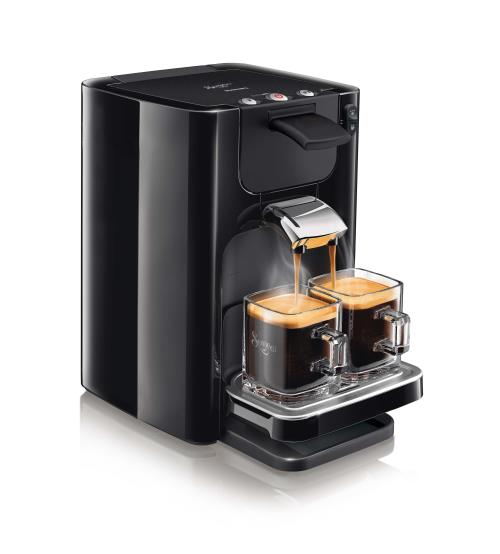 Machine à café à dosettes Philips Senseo Quadrante HD7866/61 1450 W 1,2 L Noire intense