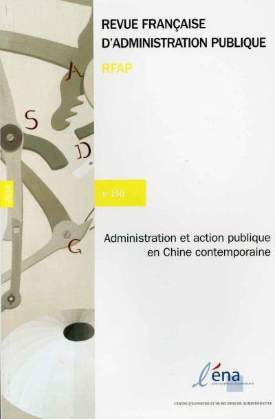 Administration et action publique dans la Chine contemporaine