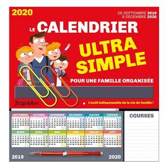 Calendrier De Decembre 2020.Frigobloc Le Calendrier Ultra Simple Pour Une Famille Organisee De Sept 2019 A Dec 2020