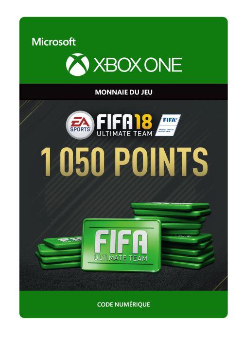 Code de télechargement FIFA 18 Ultimate Team FIFA Points 1050 Xbox One
