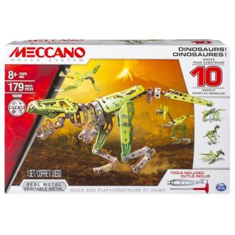MECCANO DINOSAURES - 10 MODELES MECCANO