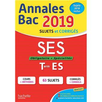 Annales Bac 2019 SES Tle ES