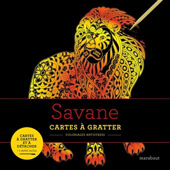 Livres à gratter : Savanes