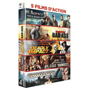 L'agence tous risques - Bad Ass - Deadly Impact - Bad Yankee - Commando Coffret 5 DVD