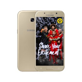 Samsung galaxy A5 GOLD + Red devils back cover