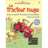 Le tracteur rouge - Avec un petit tracteur à remonter, trois circuits - Les contes de la ferme