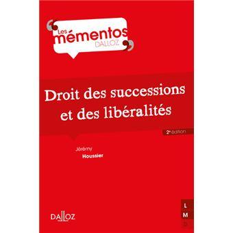 Droit des successions et des libéralités