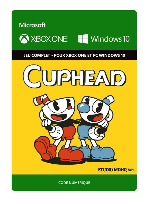 Code de télechargement Cuphead Xbox One