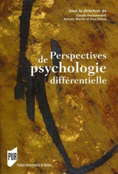 Perspectives de psychologie differentielle