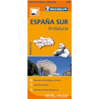Carte Andalousie Achat.Carte Espana Sur Andalucia Michelin