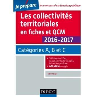 f1fcfd92170 Les collectivités territoriales en fiches et QCM 2016-2017 - 4e éd. -  Catégories