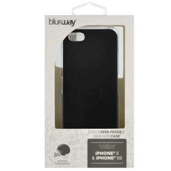 Coque Blueway pour iPhone 5S/iPhone SE, Souple, Noire