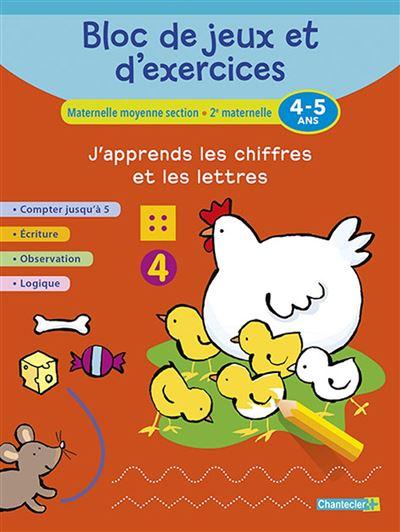 Bloc de jeux et d'exercices - j'apprends les chiffres (4-5)
