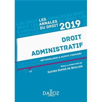Droit administratif 2019