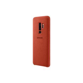 SAMSUNG S9 ALCANTARA COVER RED