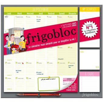 Calendrier Frigobloc 2022 Frigobloc mensuel 2022   calendrier d'organisation familiale par