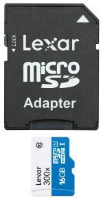 Carte mémoire Micro SDHC Lexar 16 Go Class10 + adaptateur SD