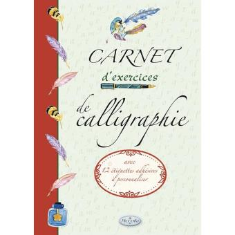 Carnet d'exercices de calligraphie - broché - Collectif ...