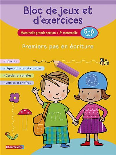 Bloc de jeux et d'exercices - premiers pas en ecriture (5-6