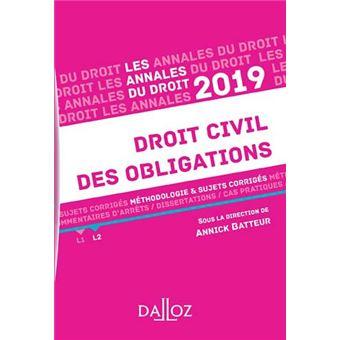 Droit civil des obligations 2019