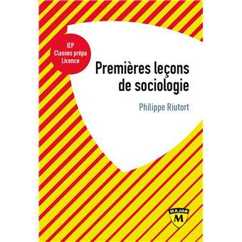 Premieres leþons de sociologie