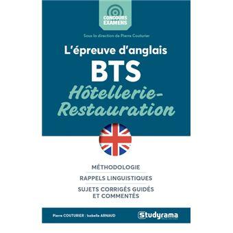 L'epreuve d'anglais au bts hotellerie-restauration